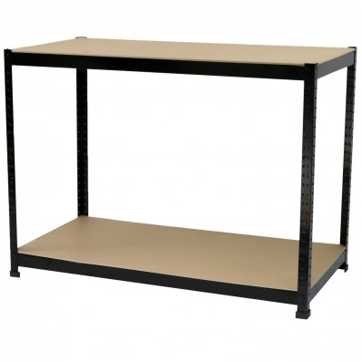 (RU6) Industrial Heavy Duty Steel Workbench Table Shelving Garage Shed The workbench is manu...