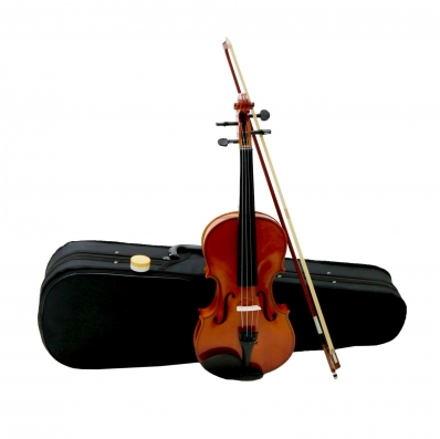 (RU43) Full Size 4/4 Acoustic Violin Set with Case, Bow & Rosin If you're learning to play v...