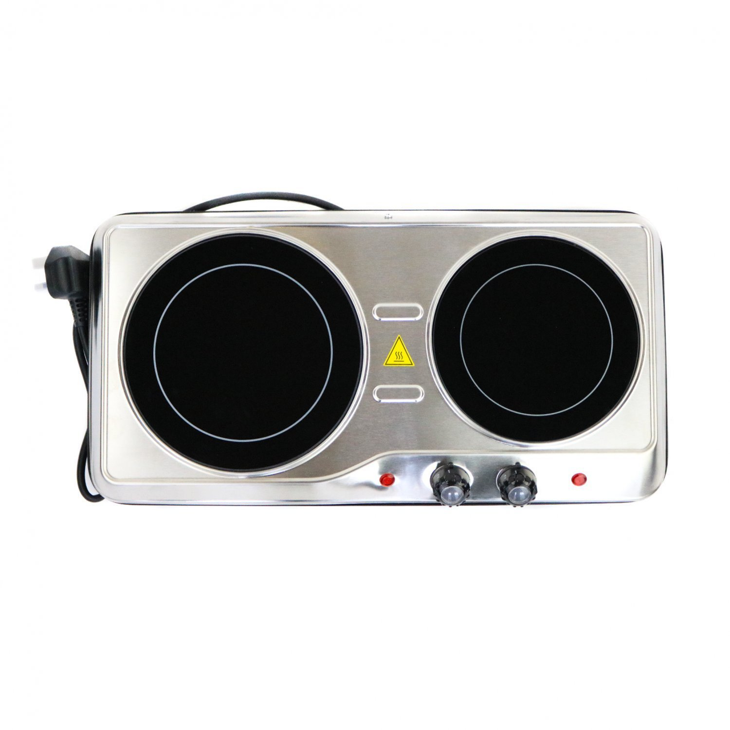 (RU10) 2000W Ceramic Portable Infrared Electric Double Hot Plate Hob The 2000W ceramic hot... - Image 2 of 2
