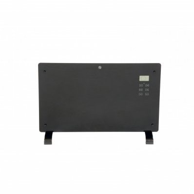 (RU19) 2000W Black Glass Free Standing Electric Panel Convector Heater Add some class and so...