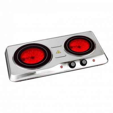 (RU10) 2000W Ceramic Portable Infrared Electric Double Hot Plate Hob The 2000W ceramic hot...