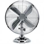 "(RU11) 12"" Inch Chrome Metal 3 Speed Desk Fan Oscillating Stay cool this year with the des..."