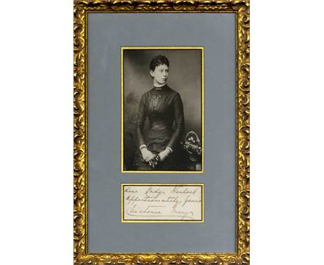MARY OF TECK: (1867-1953) Queen Consort of the United Kingdom 1910-36, wife of King George V. Ink signature ('Victoria Mary'