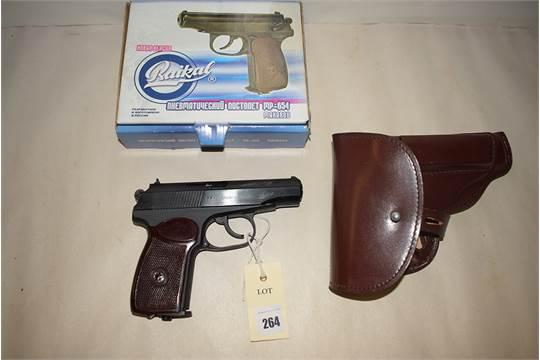 A Baikal Makarov  177 calibre air pistol, MP-654K, numbered