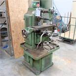 Adcock and Shipley Horizontal Milling Machine With Power Feed and Rapid Hand Feed.