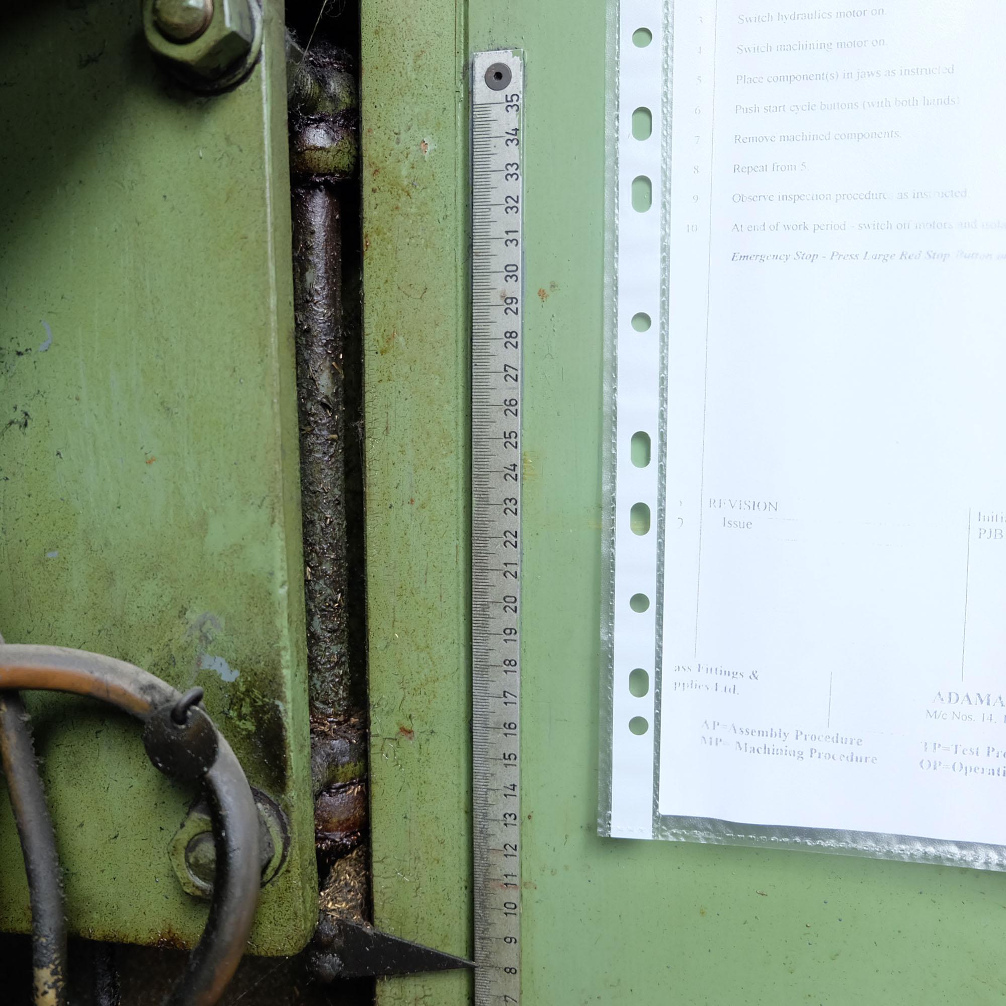 Witzig & Frank Model Adamat 4 BG/22. Six Station Indexing Rotary Transfer Machine. - Image 8 of 11