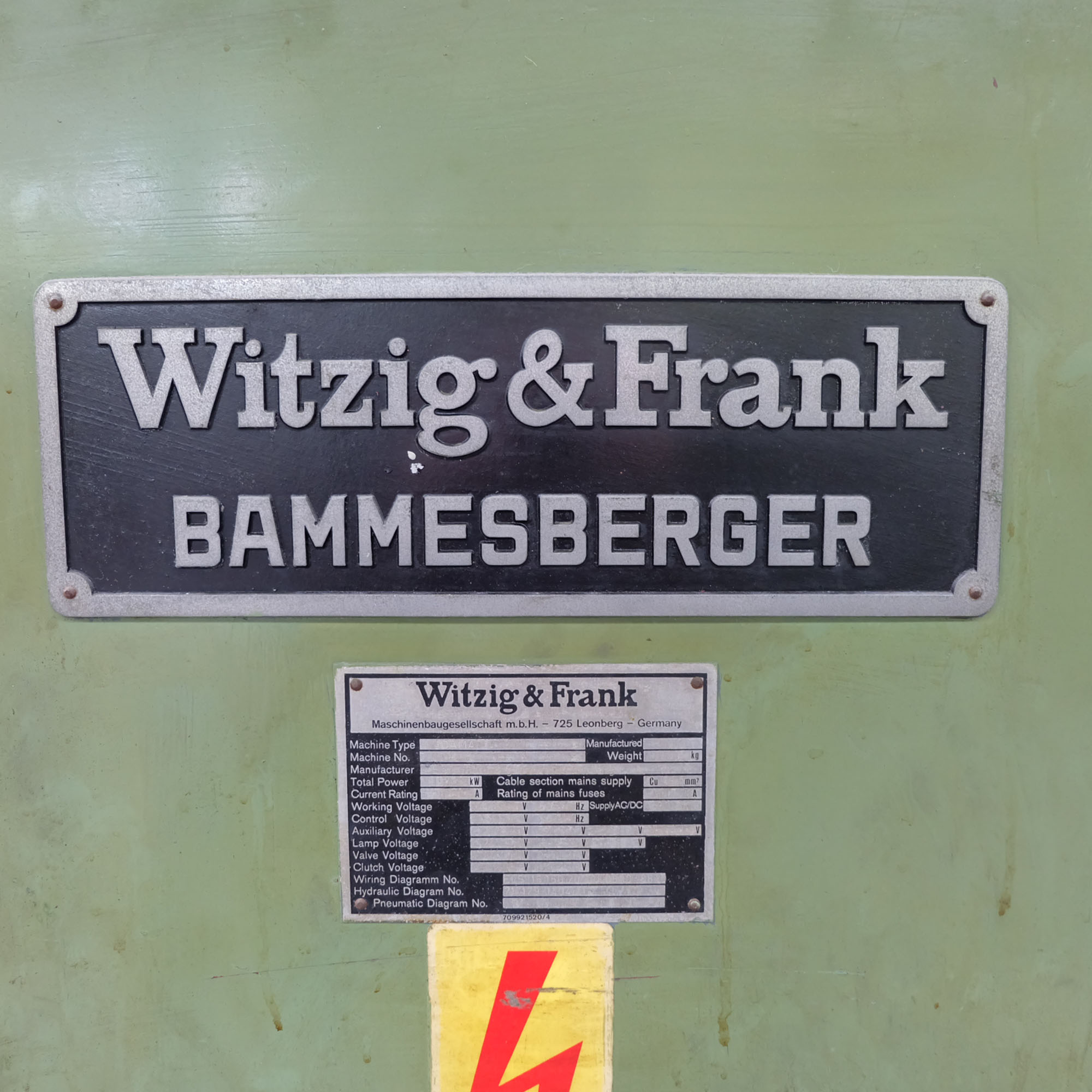 Witzig & Frank Model Adamat 4 B.G. Six Station Indexing Rotary Transfer Machine. - Image 11 of 13