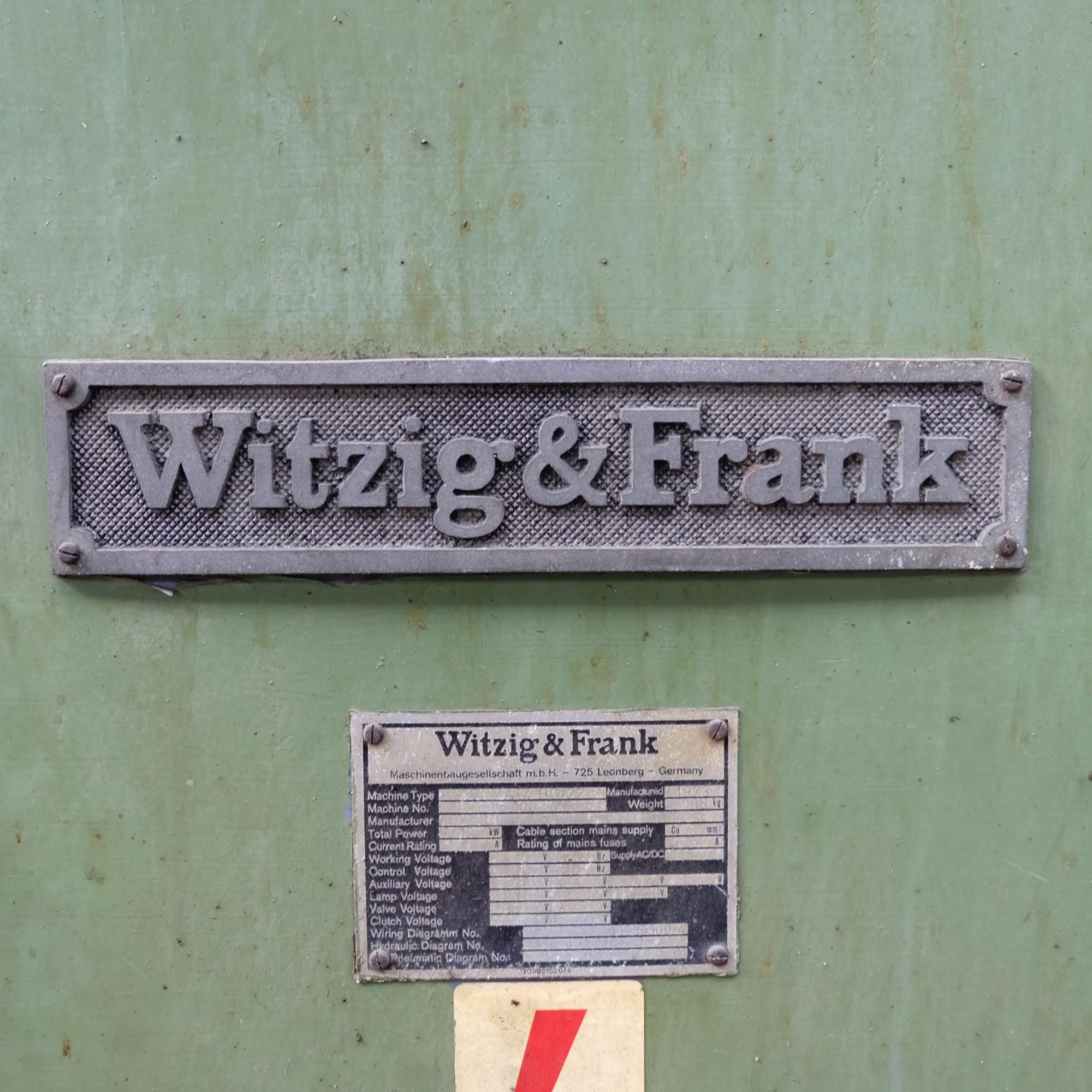 Witzig & Frank Model Adamat 4 BG/22. Six Station Indexing Rotary Transfer Machine. - Image 9 of 11