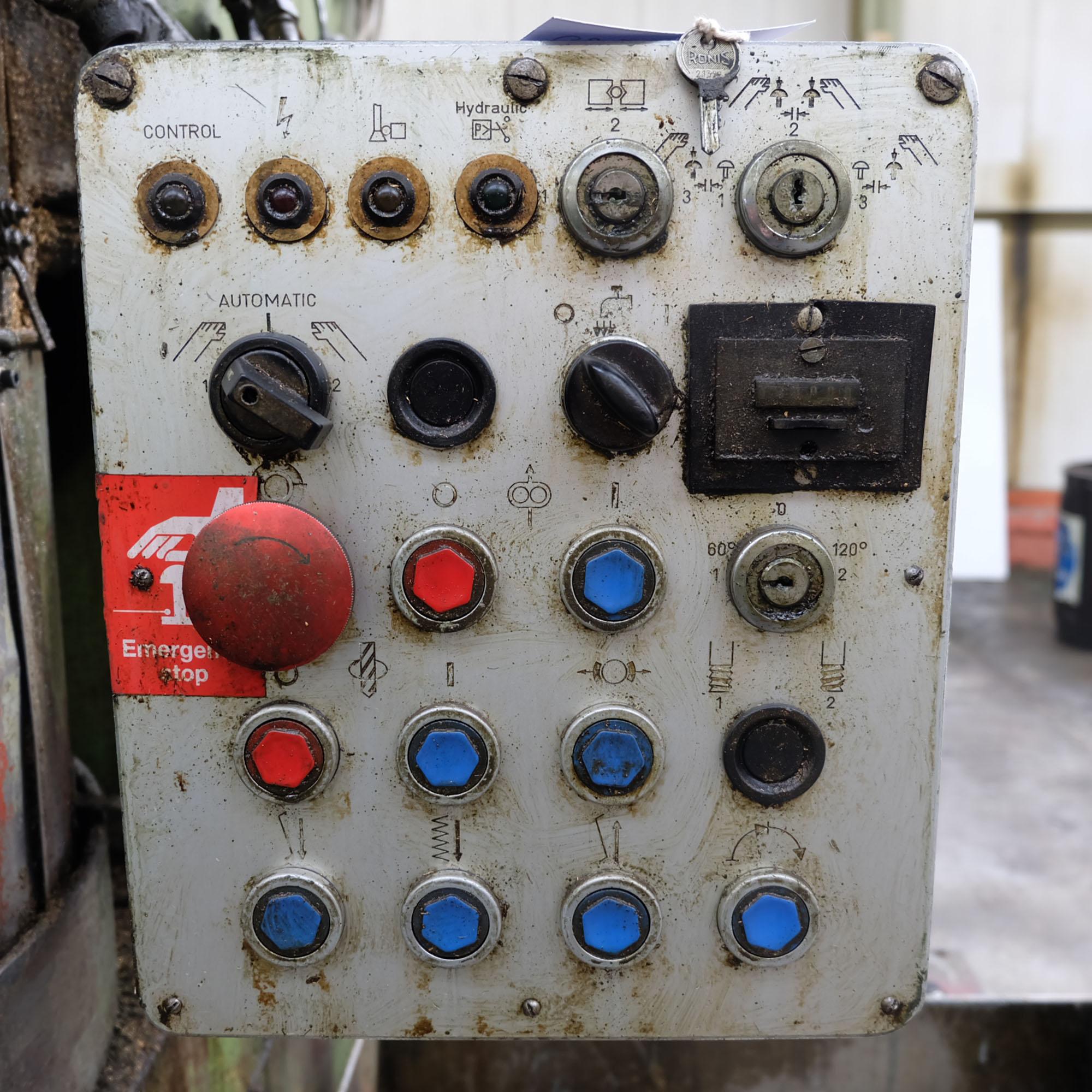 Witzig & Frank Model Adamat 4 BG/22. Six Station Indexing Rotary Transfer Machine. - Image 4 of 11