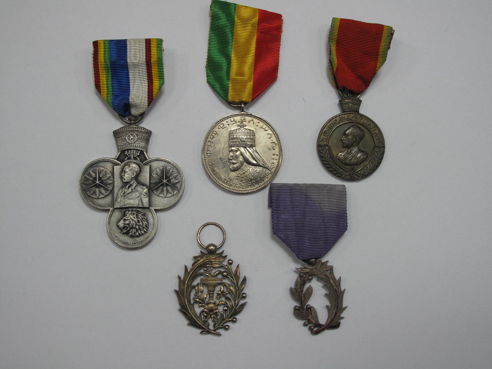 Lot 248 - Five Medals and Orders of the World, including Korean War Medal, Ethiopia Haile Selassie Jubilee