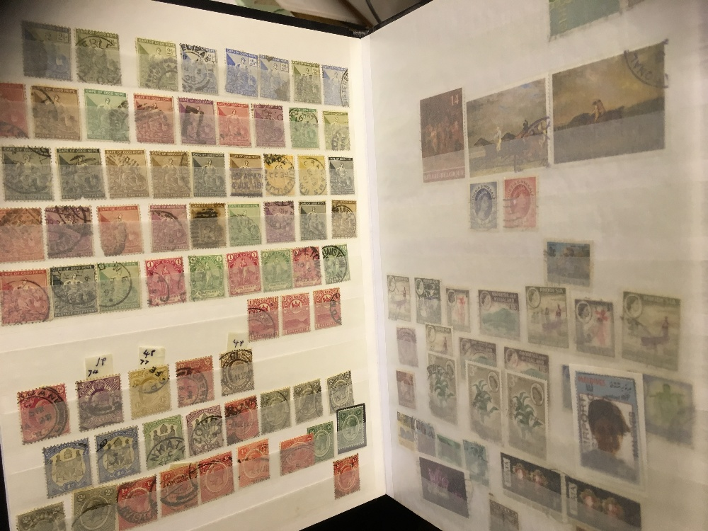 Lot 20 - STAMPS : BRITISH COMMONWEALTH, collection in eight stockbooks or albums inc Aden, Antigua,