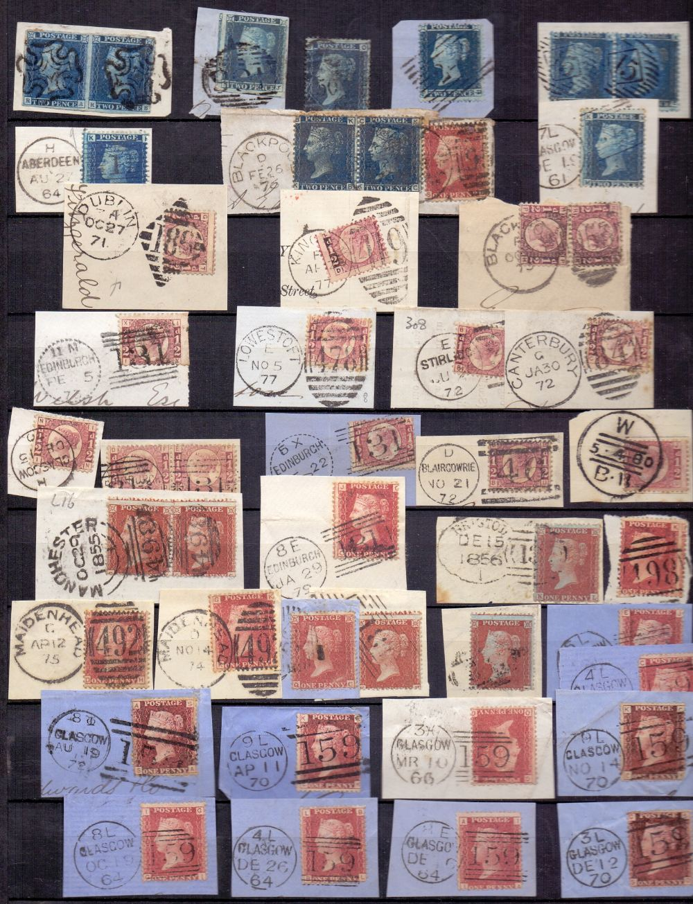 Lot 27 - STAMPS : WORLD, selection in stockbook with useful GB line engraved issues on piece with 1d reds,