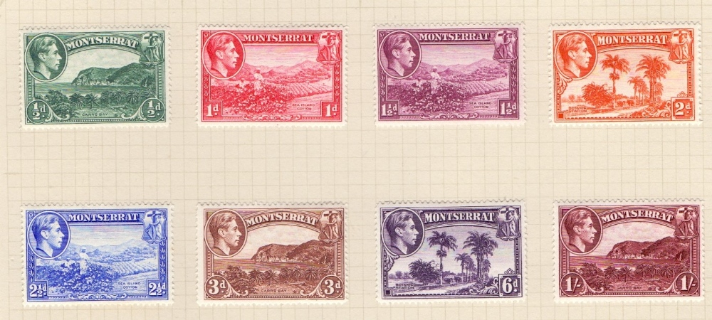 Lot 58 - STAMPS : BRITISH COMMONWEALTH, album with mostly mint or used George VI stamps.