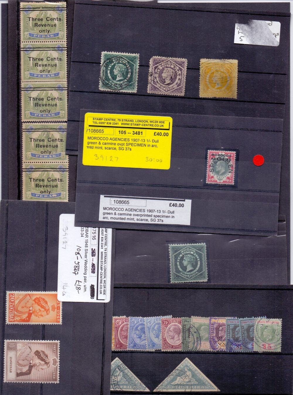 Lot 56 - STAMPS: Small batch of mint ad used Commonwealth, noted to include New South Wales 5d M/M,