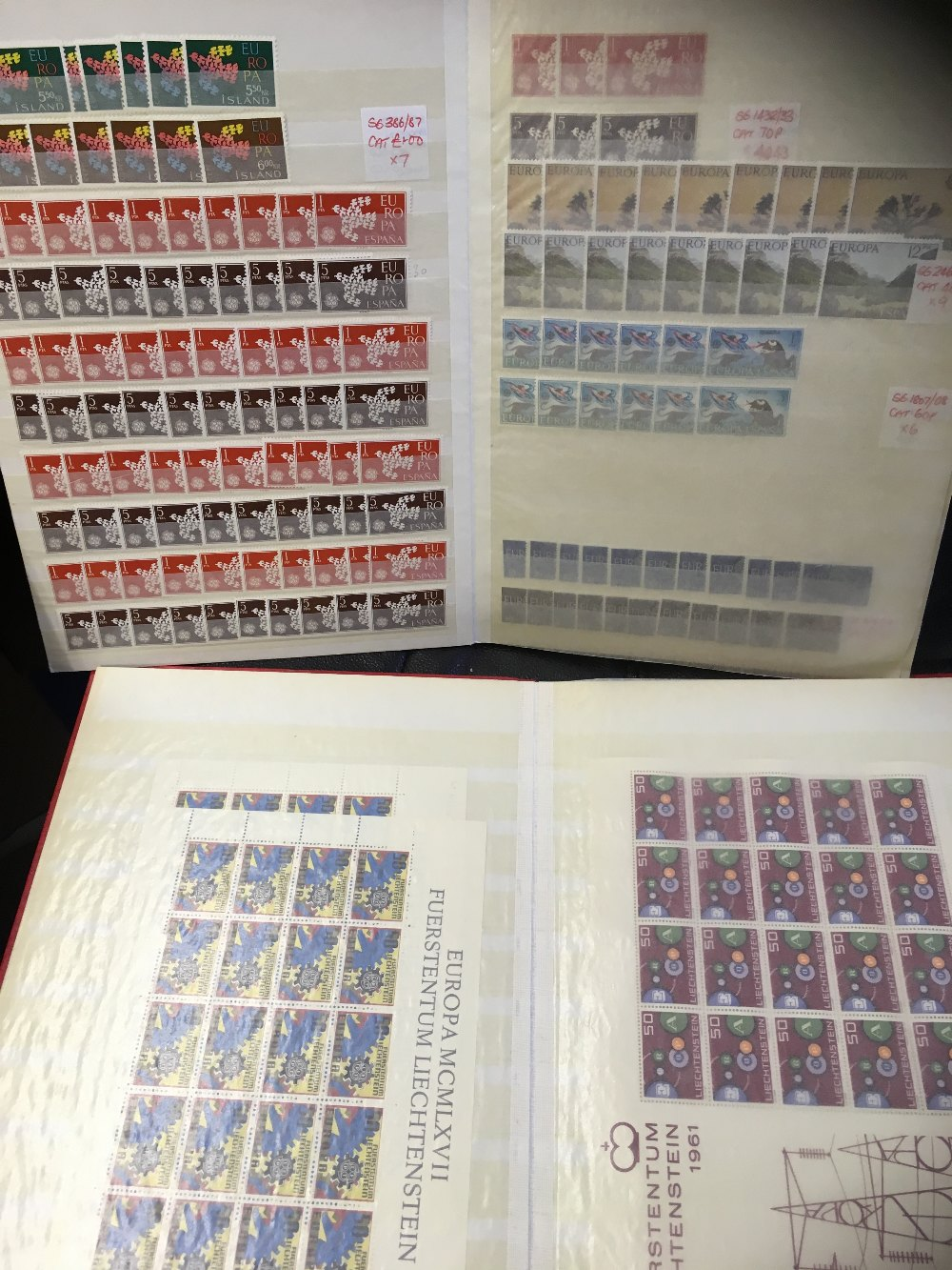 Lot 37 - STAMPS : EUROPA, duplicated selection of Europa issues in two stockbooks,