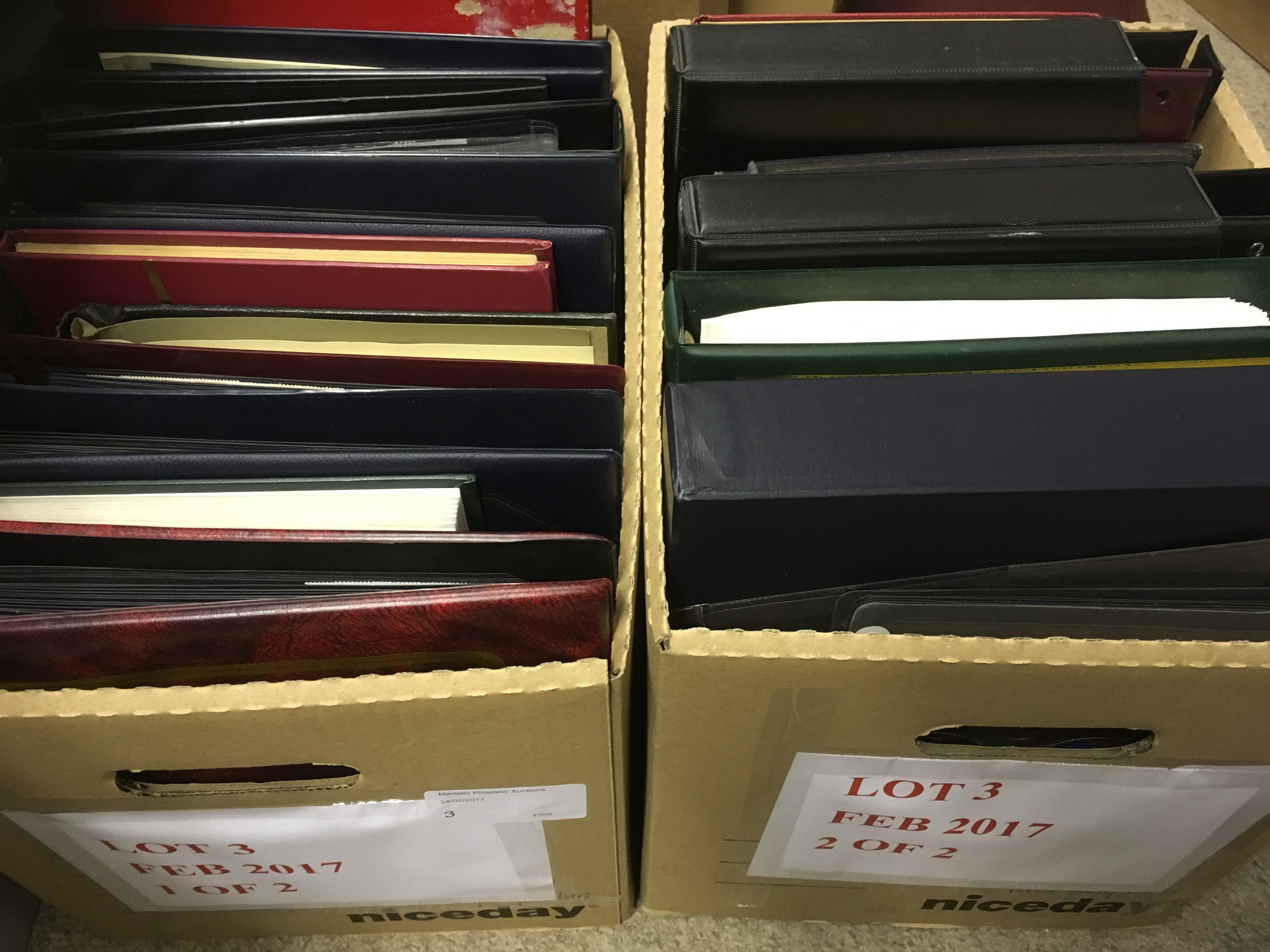 Lot 3 - STAMPS : BRITISH COMMMONWEALTH, accumulation of albums in two boxes,