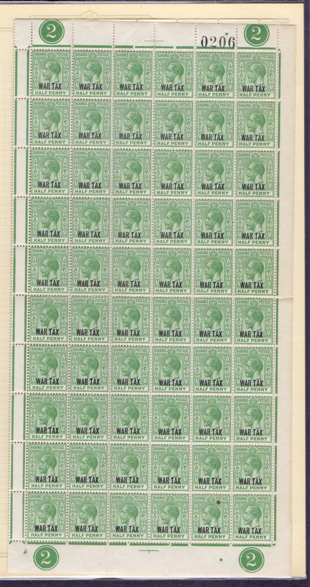 Lot 12 - STAMPS : BRITISH COMMONWEALTH, collection in album of War Tax stamps.
