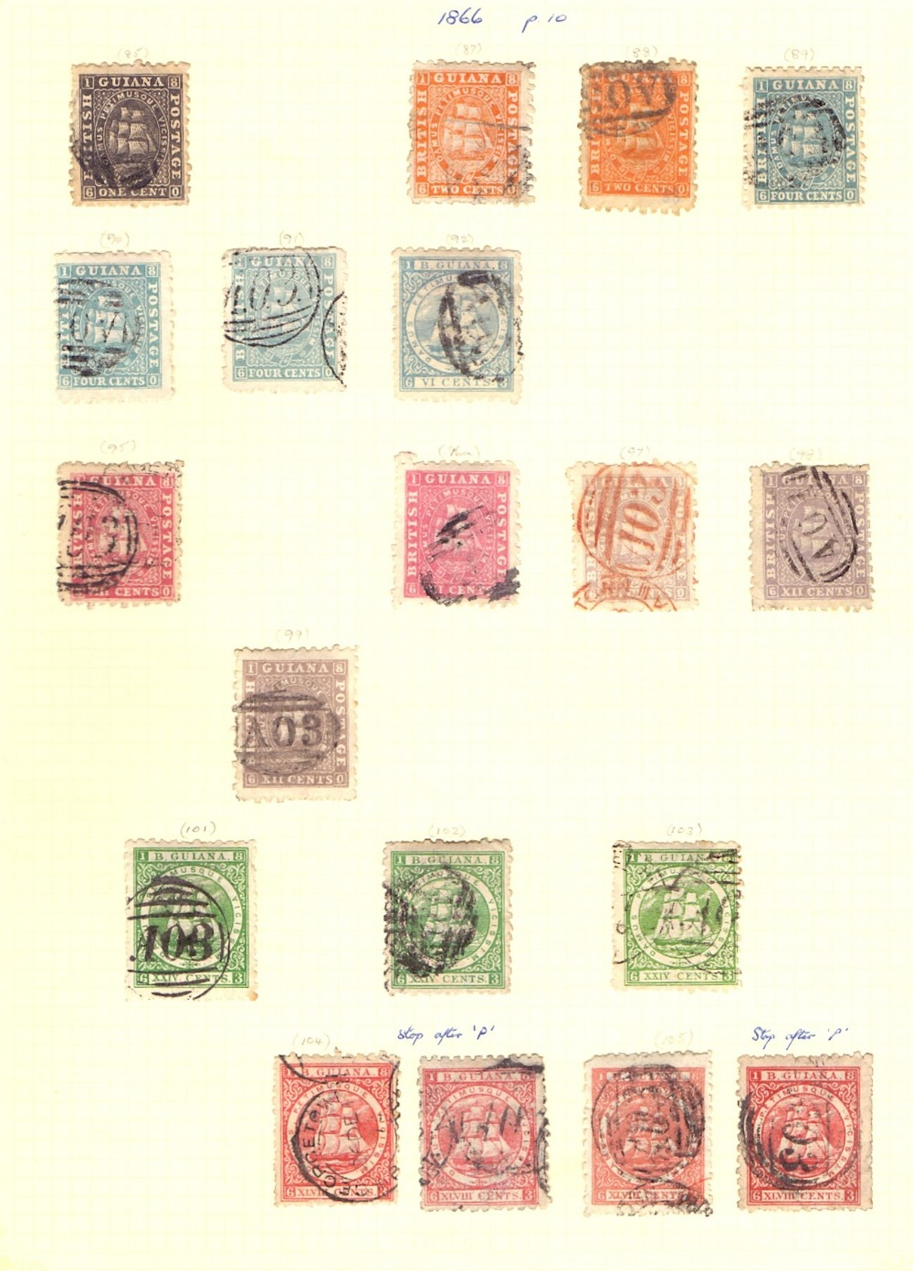 Lot 19 - STAMPS : BRITISH COMMONWEALTH, small album with mint & used QV issues for Antigua,