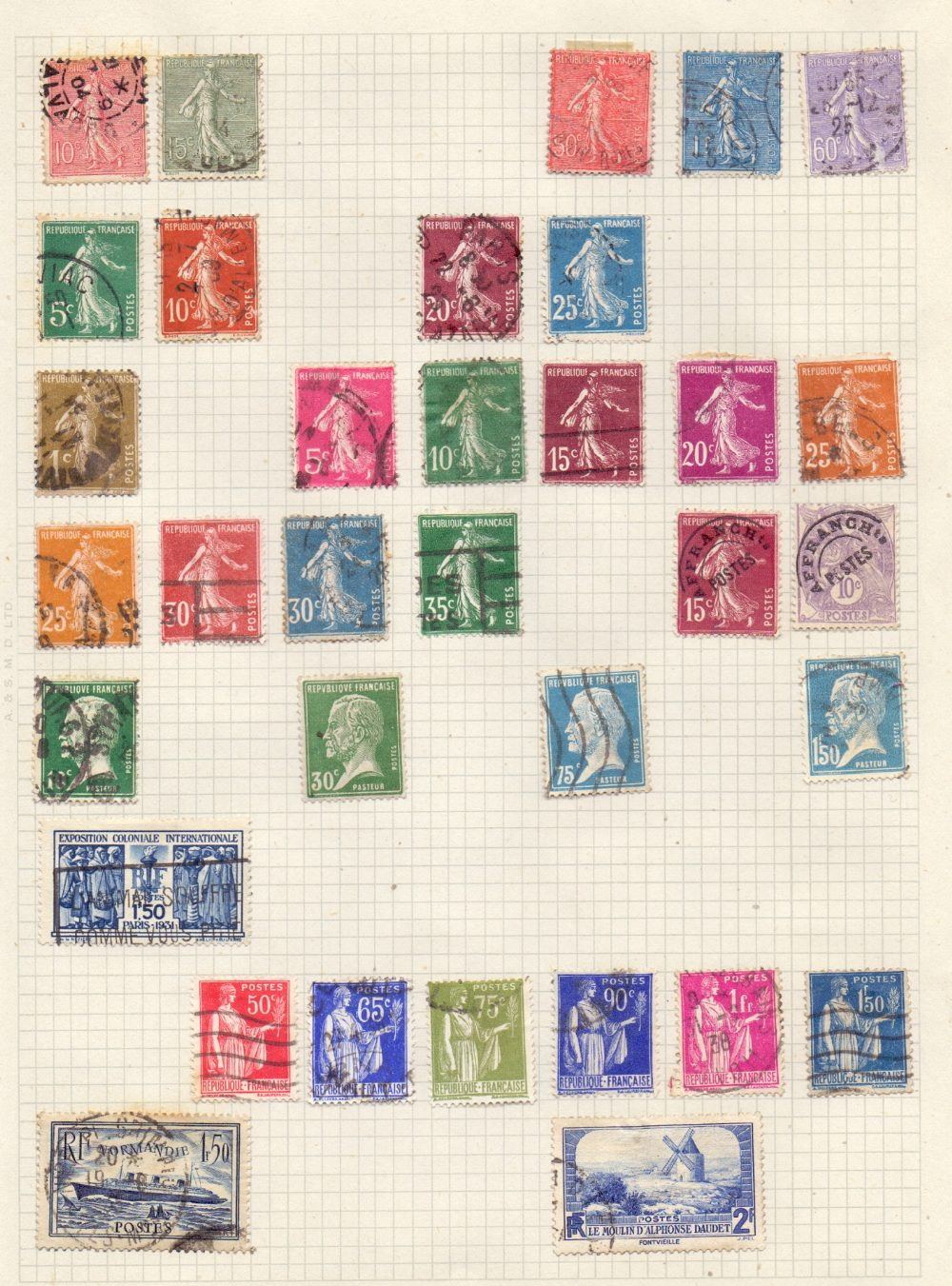 Lot 45 - STAMPS : WORLD, springback binder with mint & used inc useful South America,