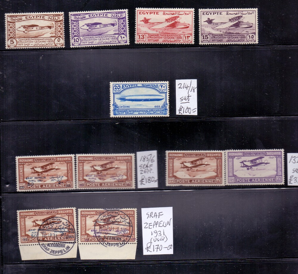 Lot 15 - STAMPS : Middle East collection on stock pages including Eygpt Zeppelin stamps mint and used, Iraq,