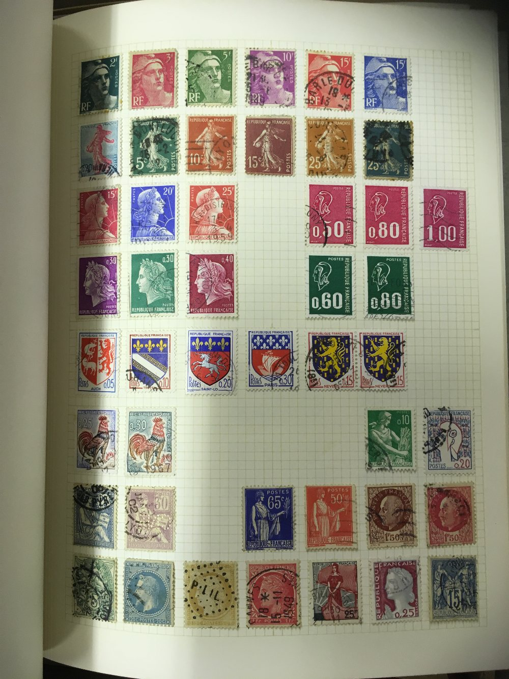 Lot 48 - STAMPS : World accumulation of 9 albums plus a couple of small stock books and some loose stamps
