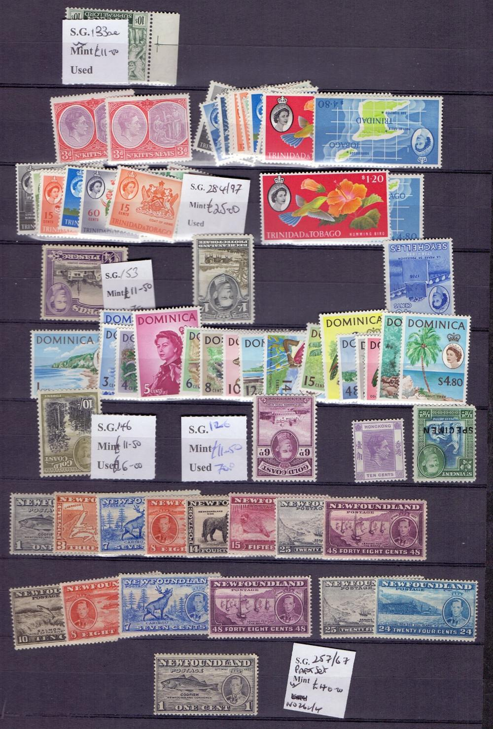 Lot 28 - STAMPS : Commonwealth duplicated mint and used in partially filled large stock book,