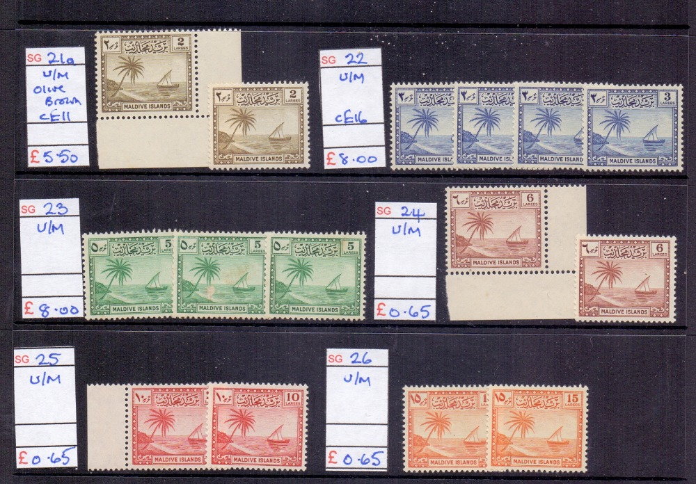 Lot 32 - STAMPS: BRITISH COMMONWEALTH ex-dealers stock in display binder, mint and used,