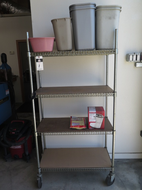 Lot 1 - Craftsman Shop Vac and Wire Frame Shelf