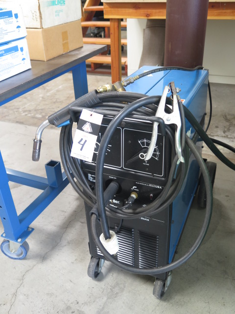 Lot 4 - Miller Millermatic Vintage 200 Amp CV-DC Arc Welding Power Source and Wire Feeder s/n KF846664 w/