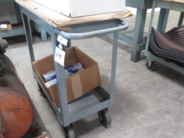 Lot 14 - Heavy Duty Shop Cart