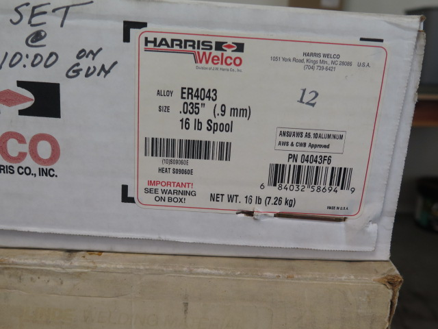 Lot 6 - Linde and Harris .035 Dia ER4043 Welding Wire