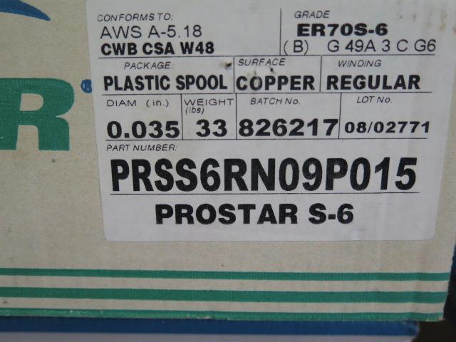 Lot 5 - Prostar S6 .035 Dia ER70S-6 Welding Wire