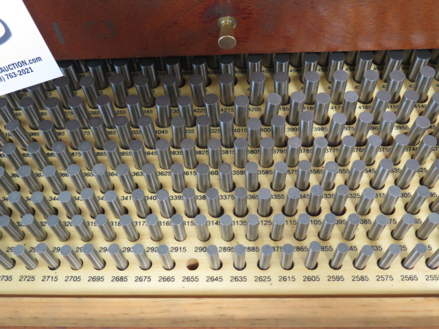 "Lot 53 - Meyer Pin Gage Cabinet 0.0115""-0.5005"", 0.061""-0.500"" and Misc Gage Pins and Thread Gages"