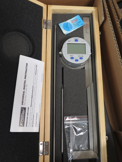 Lot 50 - Fowler Digital Protractor and Misc Protractors