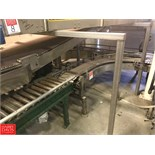 Hytrol Merge Conveyor, S/N 220437 and 220438 with (2) Sections, S/S Frame Product Conveyor with 90 °