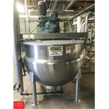 Hamilton 300 Gallon S/S Jacketed Kettle with Scrape Surface Agitation, S/N F-1869 150 PSI Jacket and