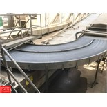 """150'+ S/S Frame Product Conveyor, 60"""" Wide with 90° Turns, Belt, Drive and Air Blower"""