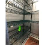 """(2) Wire Racks, 84"""" H with 20"""" x 60"""" Shelves (Note: Located in Modular Freezer)"""