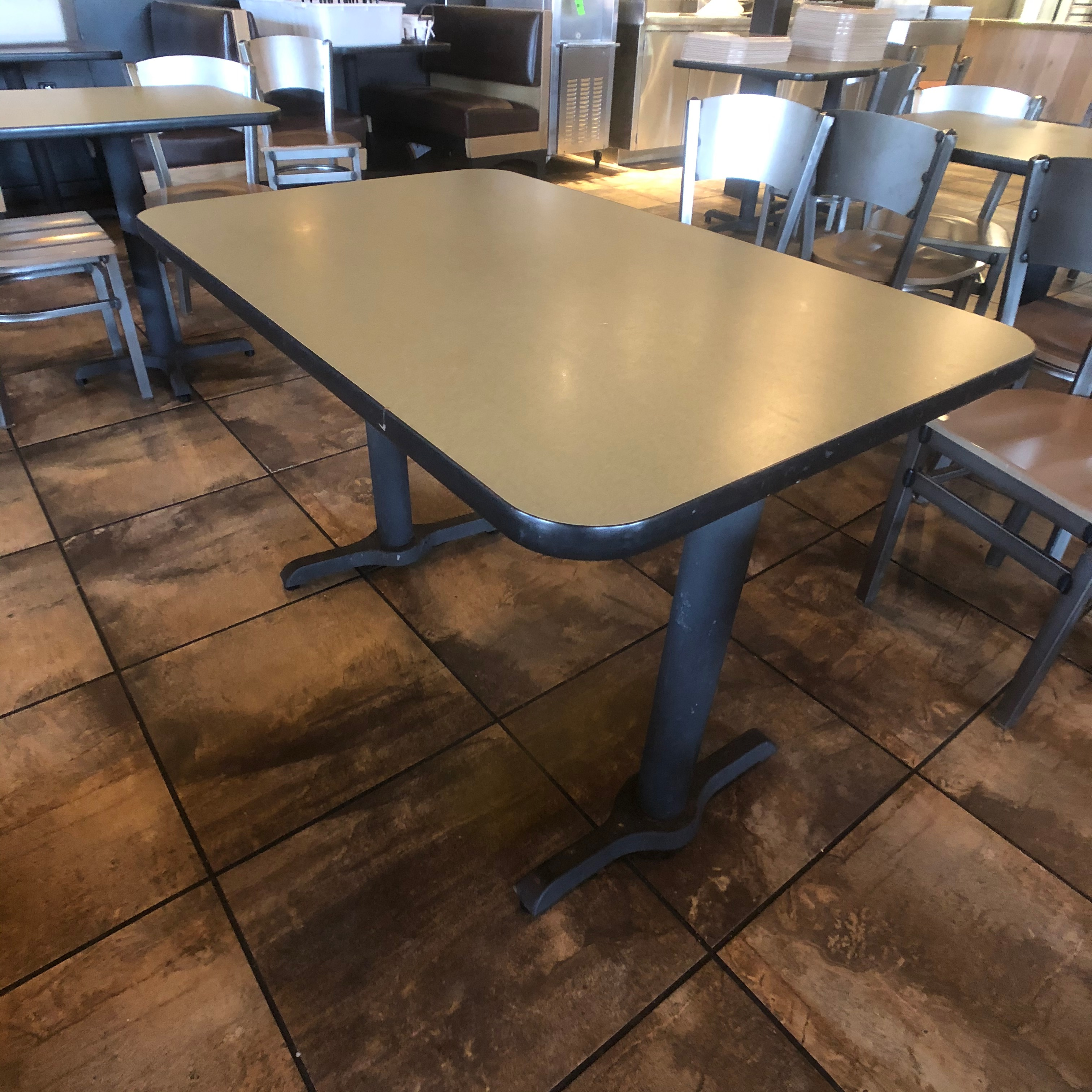 "(6) 4-Person Tables with (24) Walsh Simmons Seating Chairs, Approx. 44"" L x 28"" W - Image 2 of 5"
