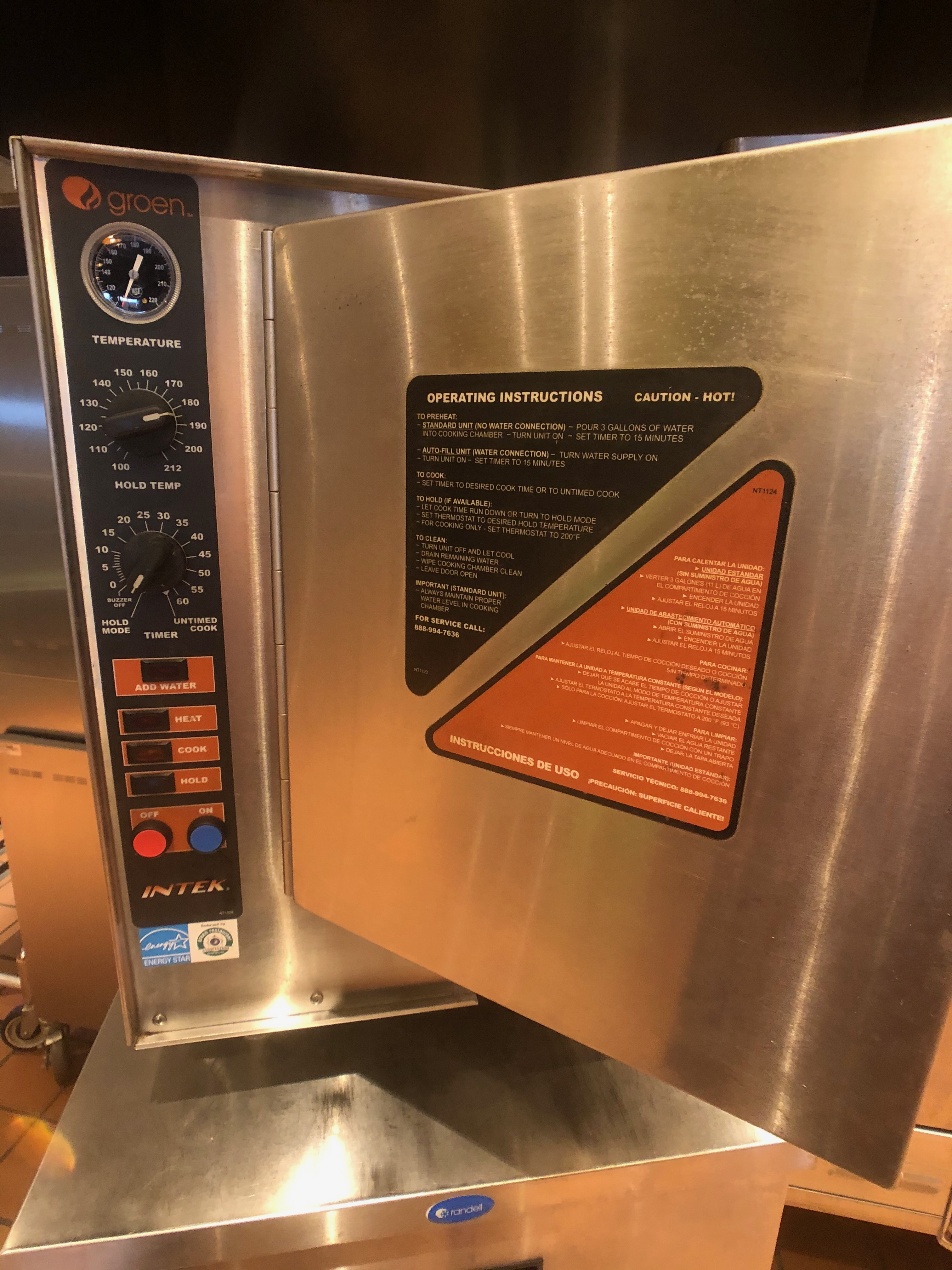 """Groen (6) Pan Countertop Convection Steamer, Model XS-208-12-3, S/N J1023935-1, Holds (6) 12"""" x - Image 3 of 7"""