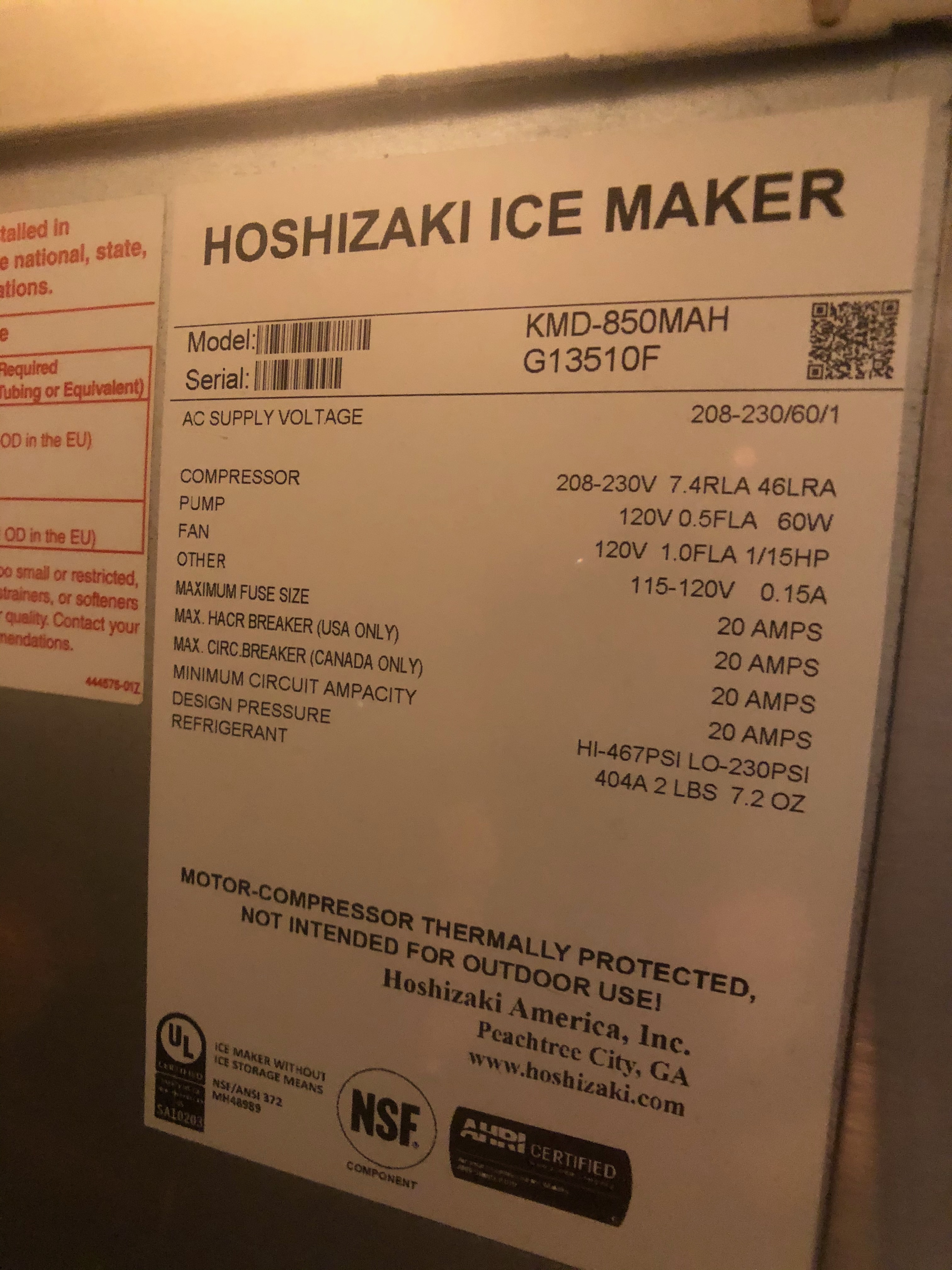Manitowoc Beverage Systems 10-Valve Soft Drink Dispenser, Model SV250, S/N 610202454, with Hoshizaki - Image 8 of 10