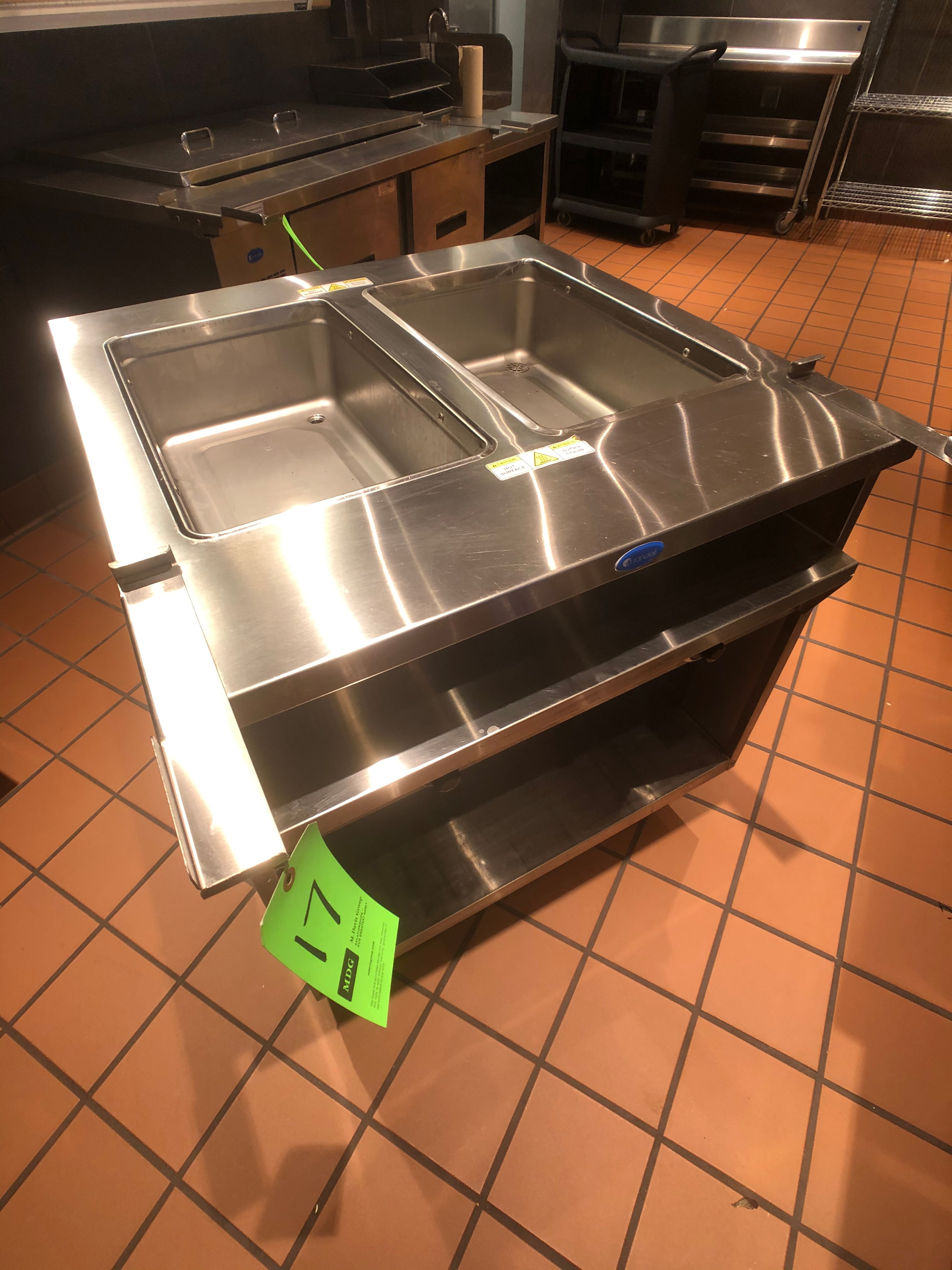 Randell Open Base Electric Hot Food Table, Model 3612-208, S/N W1041763-1, (2) Pan - Image 5 of 6