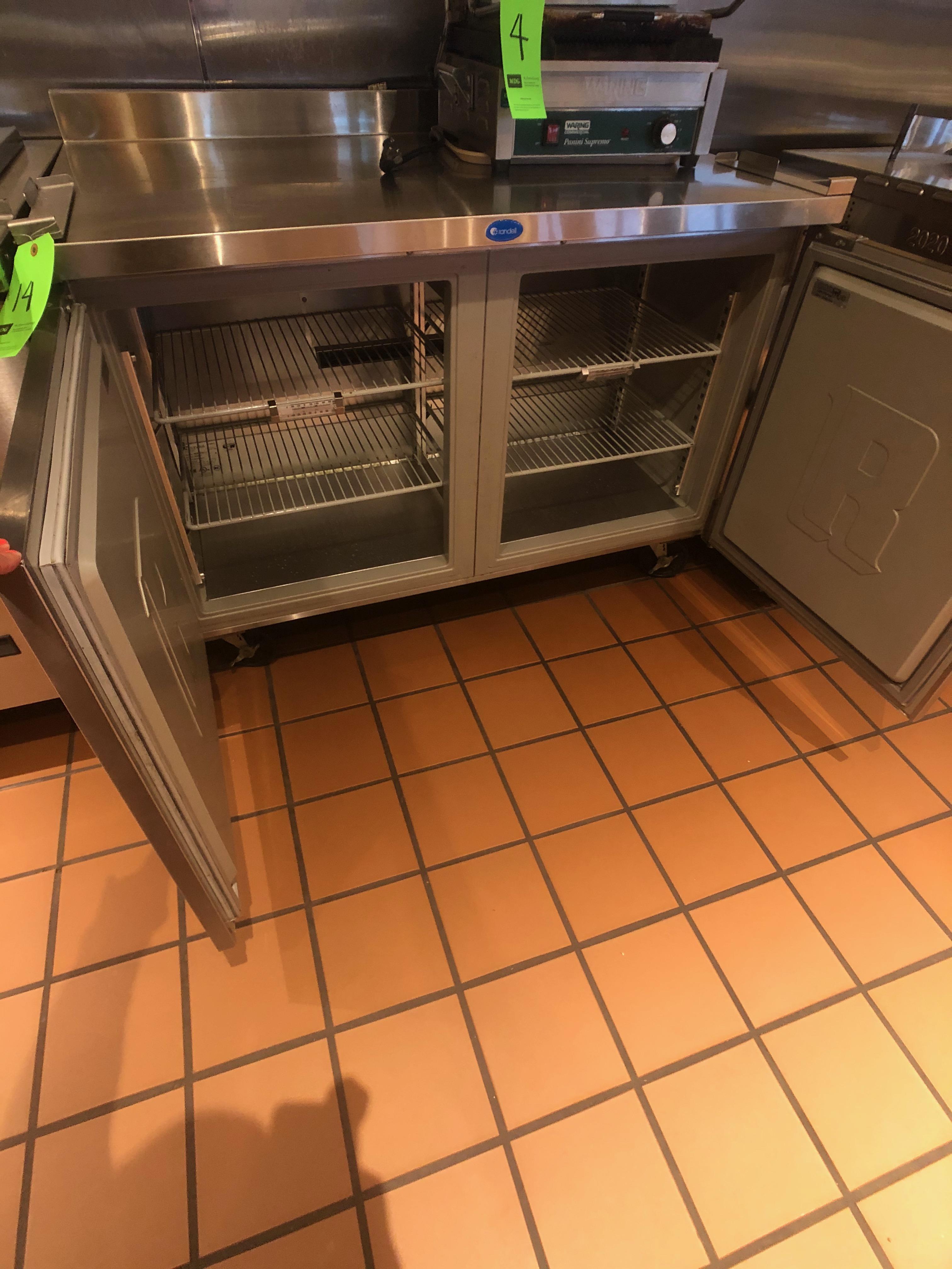 "Randell (2) Door Worktop Refrigerator, Model 9302-7, 48"" W x 30"" D x 36"" H, Mounted on Casters - Image 2 of 4"