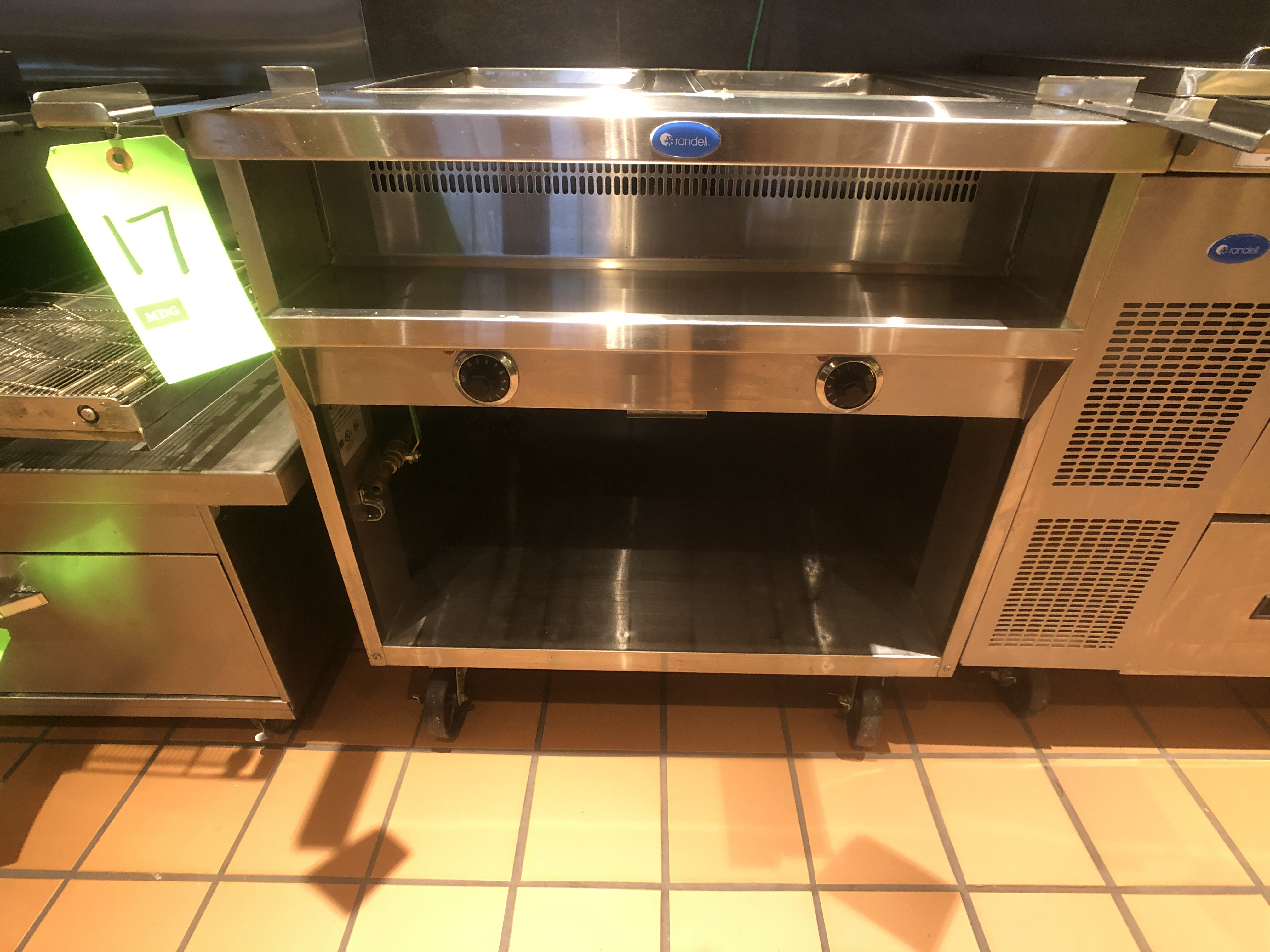 Randell Open Base Electric Hot Food Table, Model 3612-208, S/N W1041763-1, (2) Pan