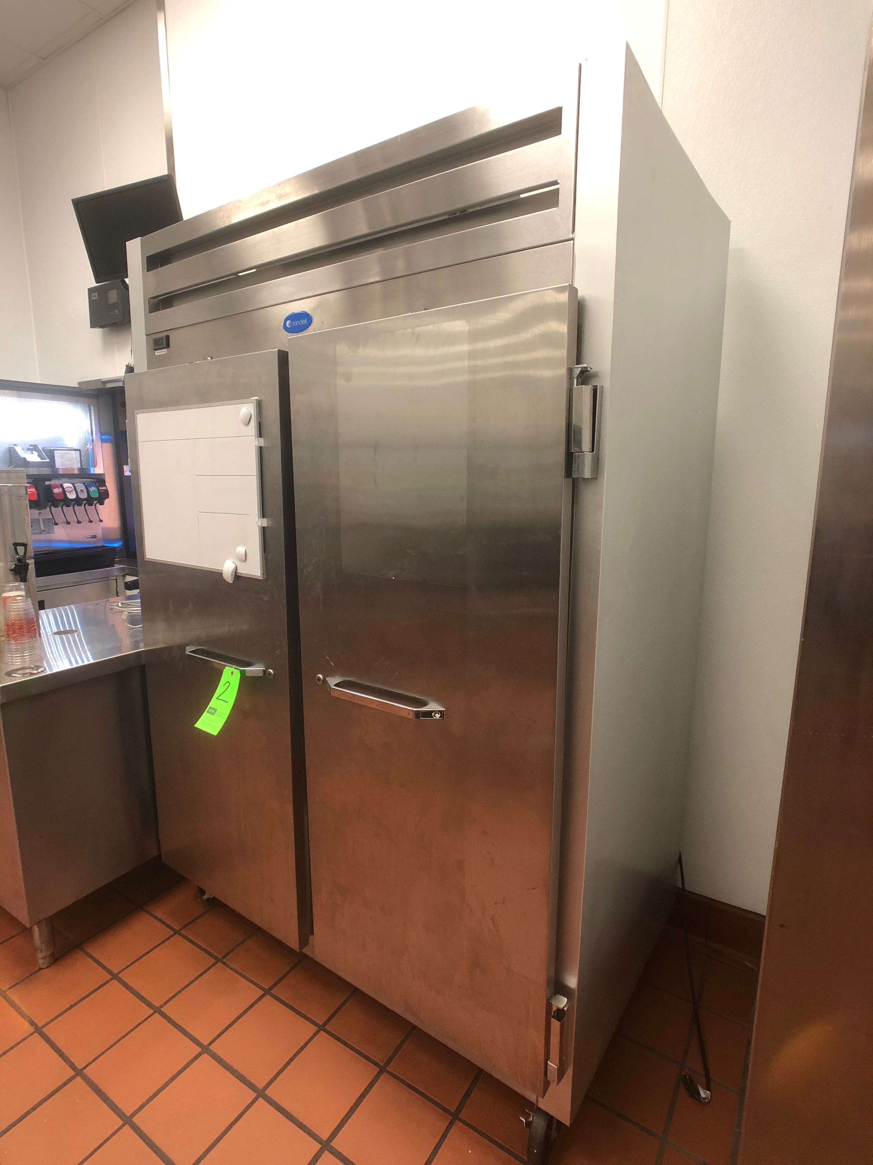 Randell 46 CuFt Reach-In S/S Refrigerator, Model 2020, S/N W858501-1, 2-Door, Mounted on Casters - Image 4 of 4