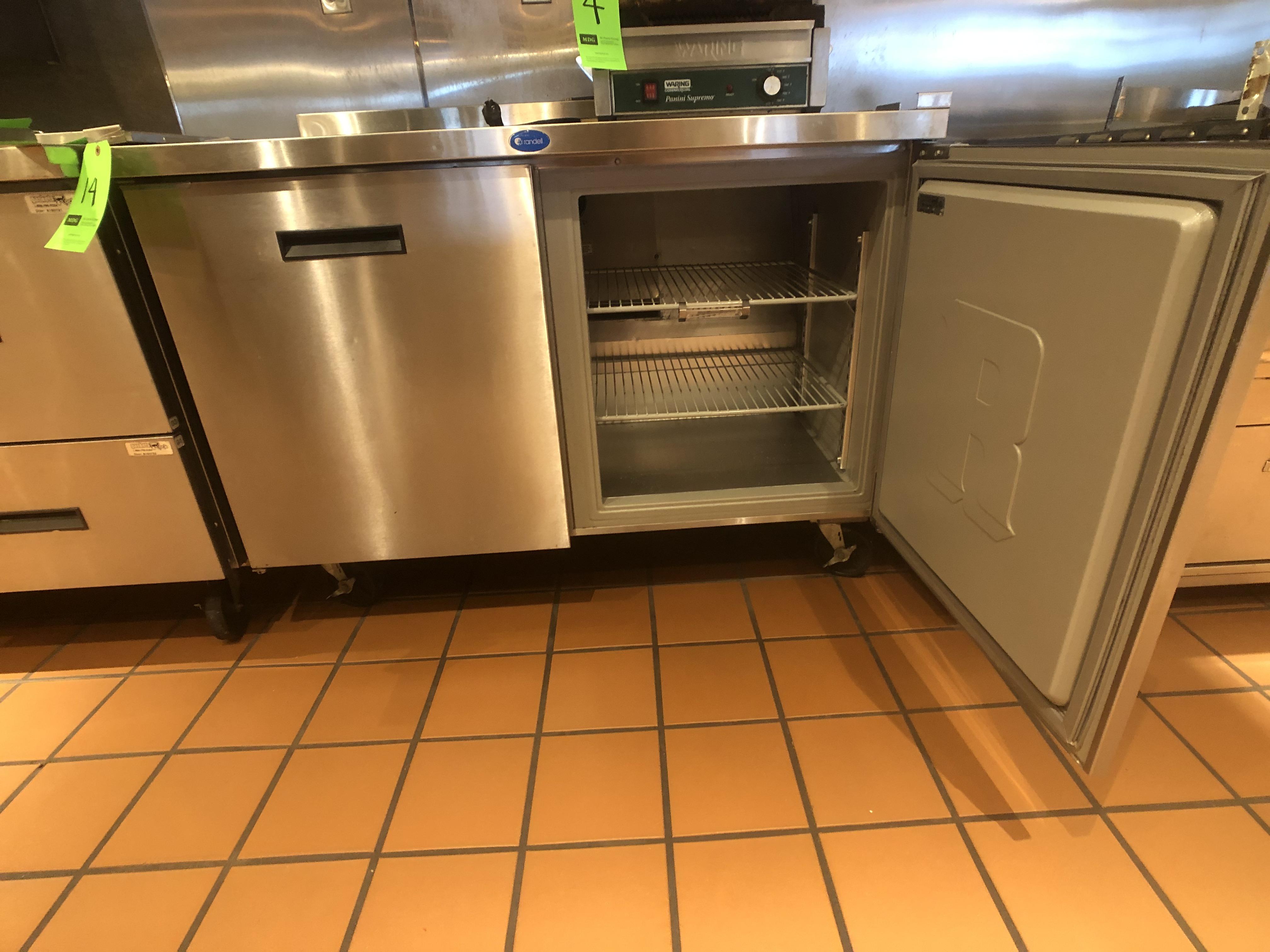 "Randell (2) Door Worktop Refrigerator, Model 9302-7, 48"" W x 30"" D x 36"" H, Mounted on Casters - Image 3 of 4"
