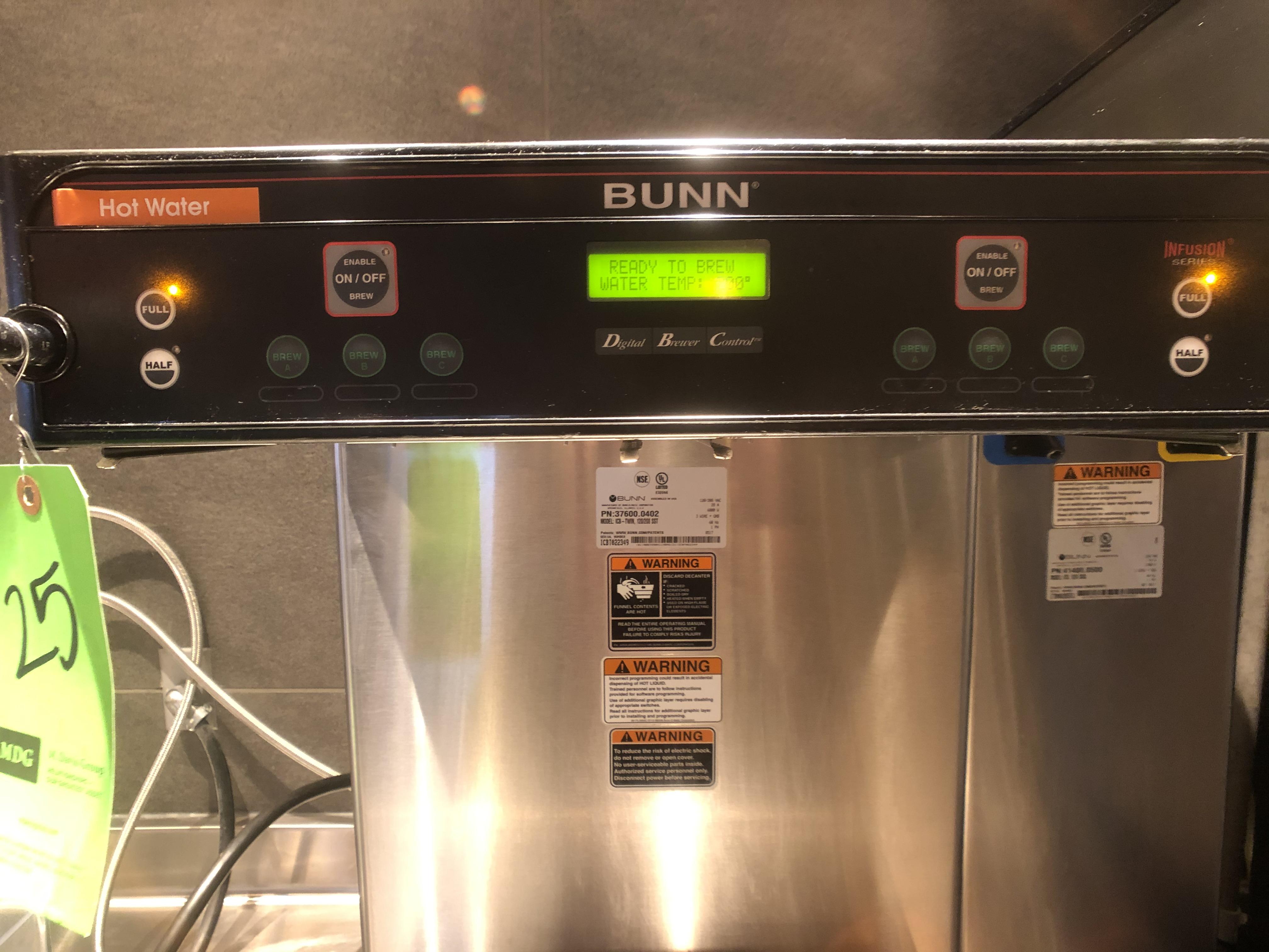 Bunn (2) Pot Coffee Maker, Model ICB-Twin, 120/208 SST, S/N ICBT022349 - Image 5 of 5