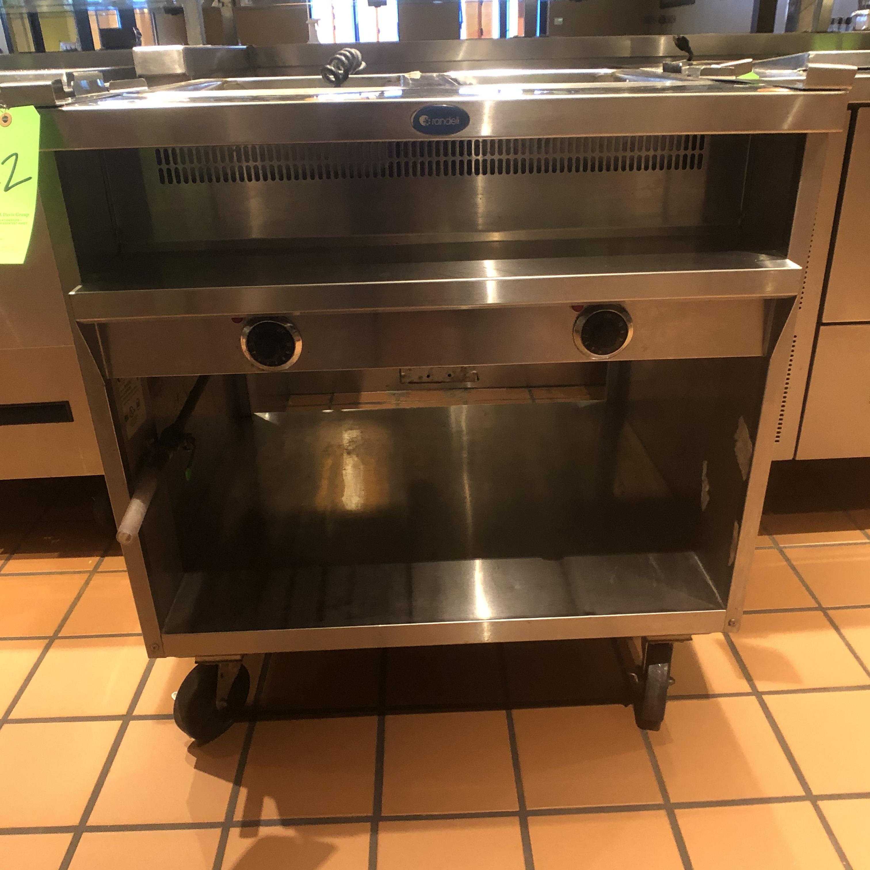 "Randell Open Base Electric Hot Food Table, Model 3612-208, S/N W1041761-1, 33"" W x 33"" D x 36"" H, ( - Image 2 of 4"