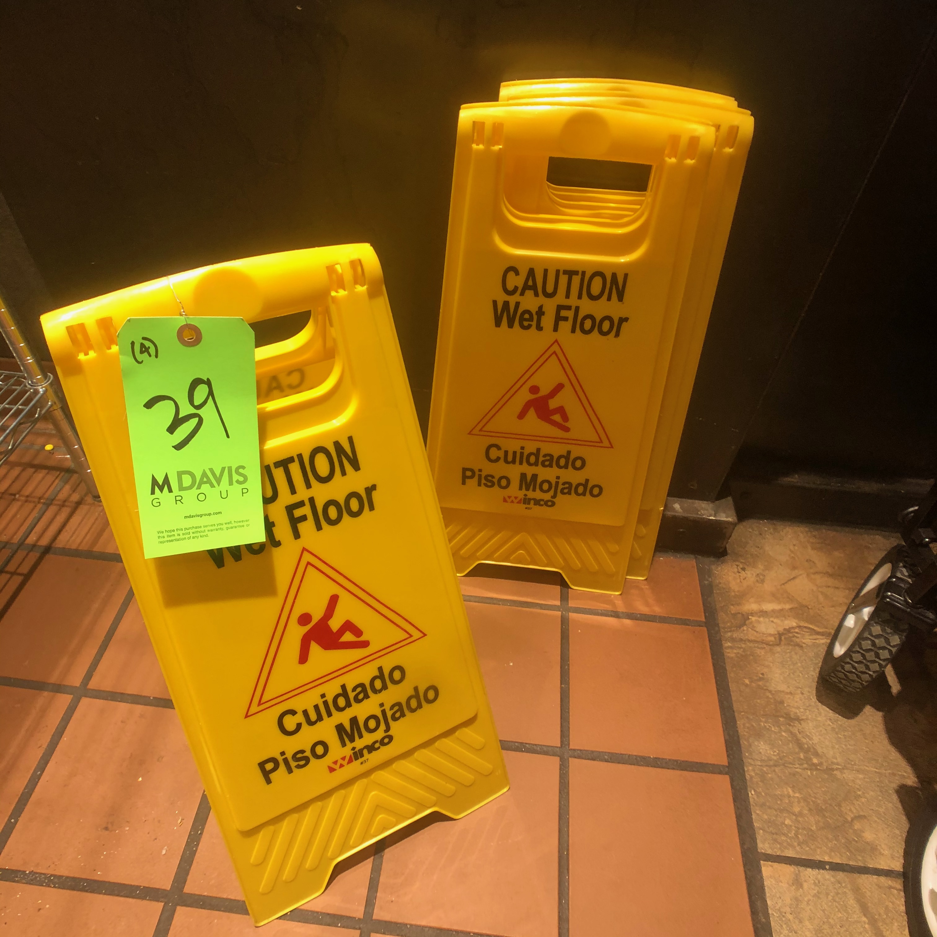 (4) Winco Yellow Caution Wet Floor Signs - Image 3 of 3