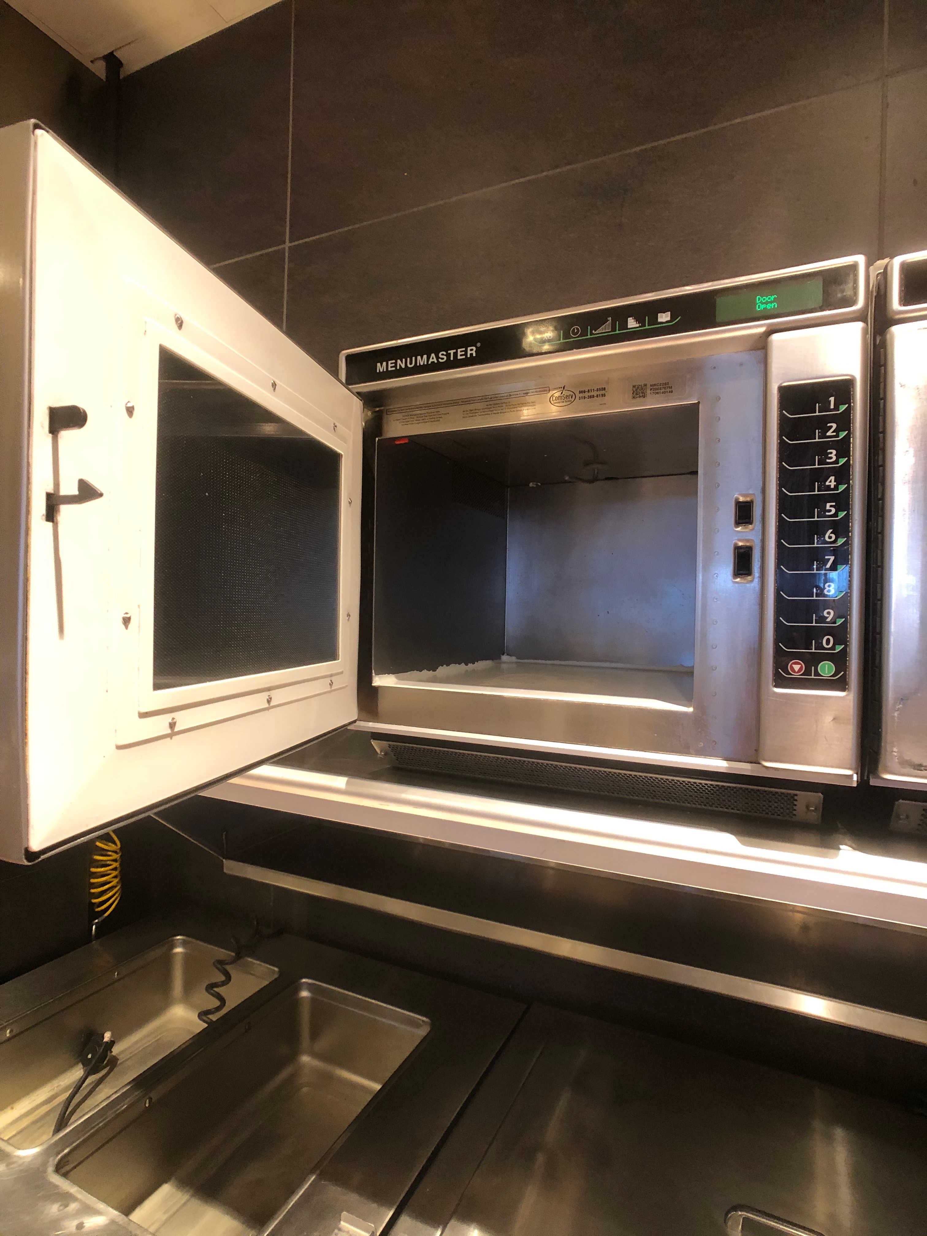 Menumaster Commercial Microwave, Model MRC22S2, 1 CuFt Interior Space, 2200 Power Output - Image 5 of 5